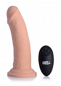 """Swell 7X Inflatable & Vibrating 7"""" Silicone Dildo"""