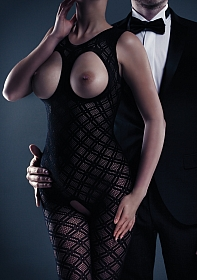 Maisie Bodystocking - Black - One Size