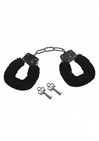 Black Furry Handcuffs