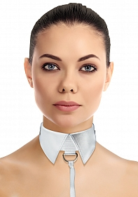 Classic Collar with Leash - White