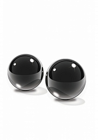 Black Glass Ben-Wa Balls Medium -