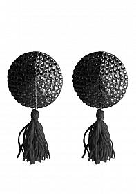 Nipple Tassels - Round - Black