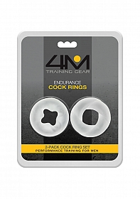 4M Endurance Cock Rings - 2 Pack - White