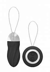 George - Rechargeable Remote Control Vibrating Egg - Black