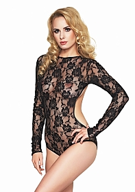 AVERA-S Lace Long Sleeve Body - Black