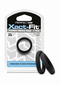 #10 Xact-Fit Cockring 2-Pack - Black