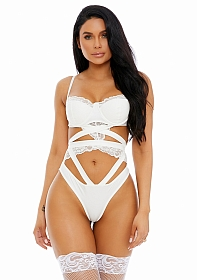 Best of Both Faux Leather Teddy - White