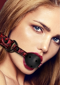 Breathable Luxury Ball Gag - Burgundy