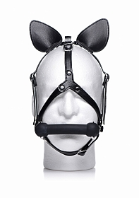 Dark Horse Pony Head Harness with Silicone Bit - Black