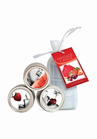 Edible Candle Threesome (Three 2oz Candles in Watermelon, Cherry
